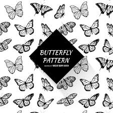 Butterfly Pattern Classy Black And White Butterfly Pattern Vector Download