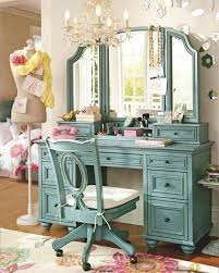 bedroom vanity with lights. Recommended Vintage Bedroom Vanities : Great Image Of Decoration Using Wheel Light Blue Wood Vanity With Lights