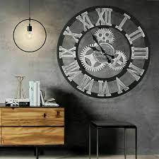 handmade clock large gear wall clock