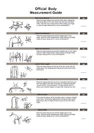 Measuring Guide Unifine Bespoke Tailors