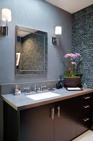 Home Accecories:Recessed And Sconces Modern Powder Room Lighting With Red  Wall In Houzz Double