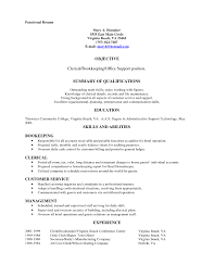59 Sample Clerk Resume Clerical Resume Examples Resume Template