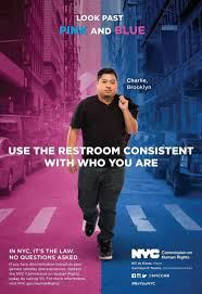 nyc bathroom law. the new campaign includes real life transgender yorkers. nyc bathroom law a