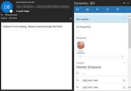 Create Outlook Dynamics 365 Outlook App V9 Create Case From Email