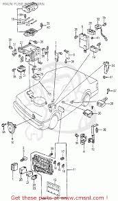 honda accord 1983 d 3dr lx kl ka kh main fuse box horn main fuse box horn schematic