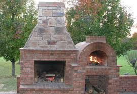 The Riley Family Wood Fired Brick Pizza Oven & Outdoor Fireplace Combo in  Kentucky
