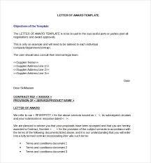 Award Letter Template - Kleo.beachfix.co