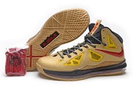 lebron old shoes. nike lebron 10 (x) gold red basketball shoes dunk old r