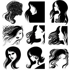 Femaleheadsilhouette Templates イラスト女性シルエット