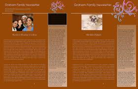 Annual Family Newsletter Template Family Newsletter Templates
