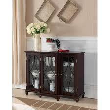cherry wood sideboard buffet console table with glass white console table with glass doors