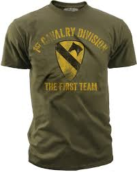 Us Army Cavalry Mens Army T Shirt Us Army 1st Cavalry The First Team Retro