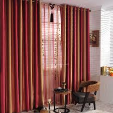 interior stylish striped window curtains to decorate your home interior best red gold modern striped