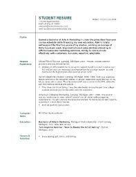 Resume Template For College Adorable Job Resume Sample For College Students Resume Ideas Pro