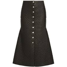 Quilted Leather Skirts - Polyvore & A.W.A.K.E. Quilted faux-leather flared skirt Adamdwight.com