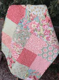 33 best Handcrafted Baby Quilts images on Pinterest | Machine ... & Baby Girl Quilt, Crib Quilt, Girl Blanket, Scrap Quilt, Handmade, Designer  Fabrics, Florals, Pink, Red, Mint, Aqua, Peach, Ready to Ship Adamdwight.com