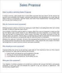 Sample Of A Sales Proposal Savebtsaco Business Sales Proposal Sample