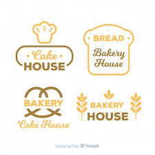 Flat Bakery Logos Vector Free Download