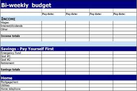 Biweekly Budget Template 1 Bi Weekly Budget Template Free Download