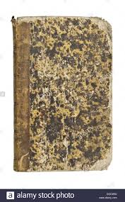 old book cover texture on pure white background