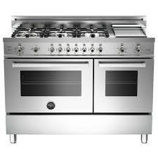 double oven gas range. Bertazzoni - Freestanding Double Oven Gas Convection Range Stainless Steel Front_Zoom R