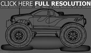 Monster Truck Grave Digger Coloring Pages Printable Coloring Page