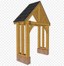 framing porch roof post oak shed wooden truss