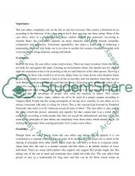 the ethics of care essay example topics and well written essays the ethics of care essay example