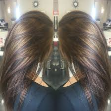 Carmel Highlights On Brunette Hair
