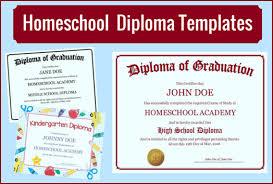 Free Homeschool Diploma Template Homeschool Diploma Templates Free For Homeschoolers
