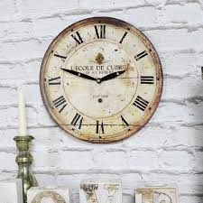 small cream vintage french wall clock