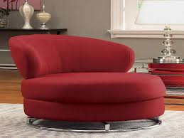 image of contemporary swivel chair red