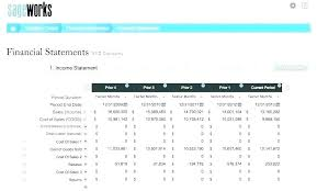 Projected Income Statement Excel Budgeted Template Format 5 Year