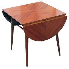 drop side table mid century modern drop leaf end side table in ribbon mahogany drop side drop side table