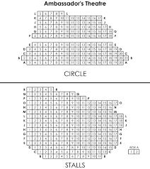 Ambassador Theatre Seating Chart Seating Plan Of Ambassadors Theatre London
