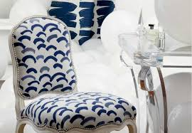 perennials fabric in white and blue
