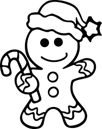 Christmas Gingerbread Man Clipart Awesome Coloring Pages Christmas