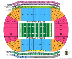 Eastern Michigan University Convocation Center Seating Chart Michigan Stadium Seating Chart Michigan Stadium Ann