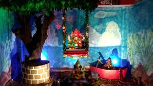 nature theme ganpati decoration ideas for home image source you