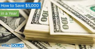 How To Save 5 000 In A Year Vital Dollar