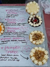 sweet revenge lilikoi chiffon chocolate mess french apple and pumpkin crunch pies