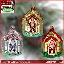 Christbaumschmuck Haus Mit Weihnachtsmann Glasform Sammlerstücke