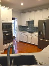 Kitchen With Glass Tile Backsplash Cool Kitchen Backsplash Glass Mosaic Tile Black Subway Tile White K C R