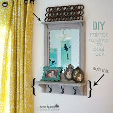 Mirror Coat Rack Custom Revamp A Mirror Into A Coat Rack For Your Entryway