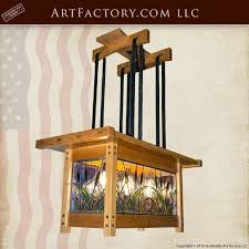 craftsman style chandelier true american arts and crafts lighting ch6126b