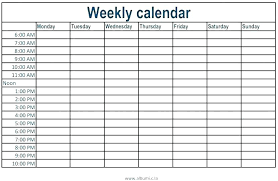 Weekly Calendar With Time Slots Template Calendar Template With Time Slots Excel Word Calendars Weekly