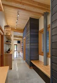 bedroom track lighting. stained wood wall hall rustic with track lighting white bedroom benches