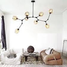 modern branch chandelier glass magic beams pendant lamp light luxury loft lighting fixture living room