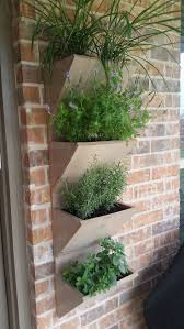 Planters, Large Outdoor Wall Planters Mounted Wooden Boxes Wall Brick For  Herb Plant: marvellous