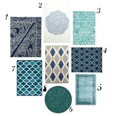 blue kitchen rug navy rugs aqua colored